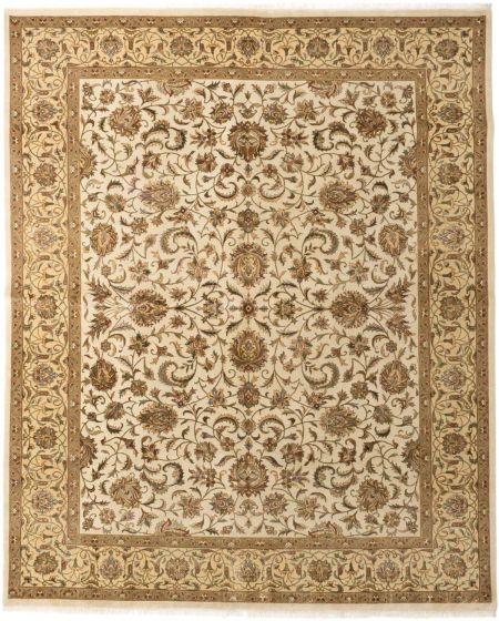 Traditional Blue Area rug 6x9 Indian Hand-knotted 191618
