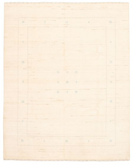 Gabbeh  Tribal Ivory Area rug 6x9 Indian Hand-knotted 331209