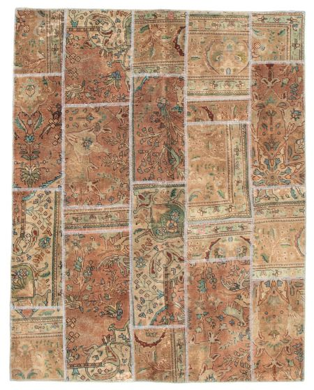 Casual  Vintage Brown Area rug 4x6 Turkish Hand-knotted 342228