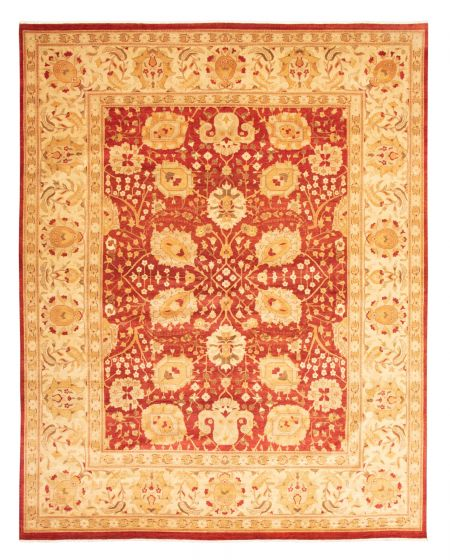 Bordered  Traditional Red Area rug 12x15 Pakistani Hand-knotted 345235