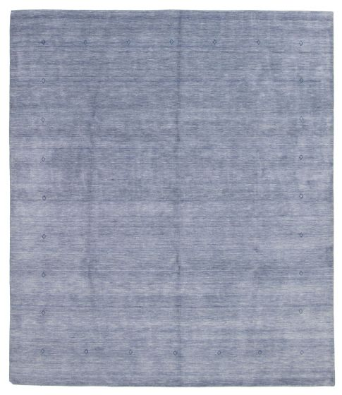 Gabbeh  Tribal Blue Area rug 6x9 Indian Hand-knotted 331215