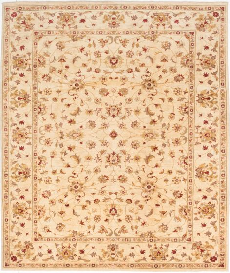 Traditional Yellow Area rug 6x9 Afghan Hand-knotted 195082