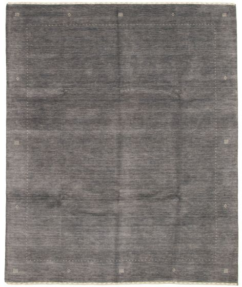 Gabbeh  Tribal Grey Area rug 6x9 Indian Hand-knotted 331216