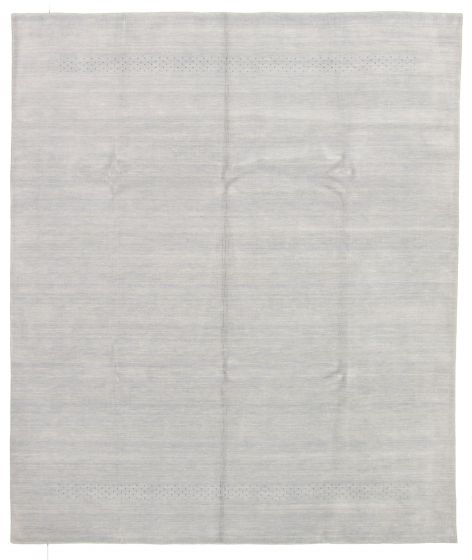 Gabbeh  Tribal Grey Area rug 6x9 Indian Hand-knotted 331255