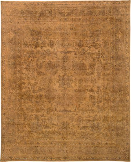 Transitional Brown Area rug 9x12 Persian Hand-knotted 207878