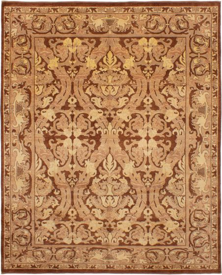 Bohemian  Traditional Brown Area rug 6x9 Afghan Hand-knotted 272876