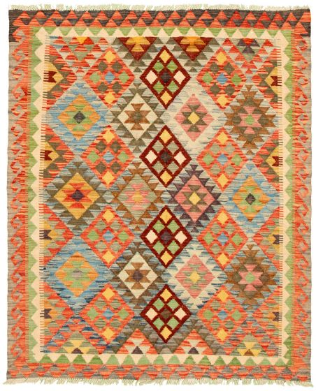 Bordered  Flat-weaves & Kilims Multi Area rug 4x6 Turkish Flat-weave 330160