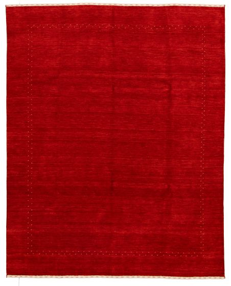 Gabbeh  Tribal Red Area rug 6x9 Indian Hand-knotted 331247
