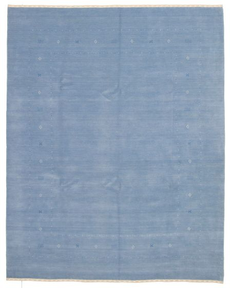 Gabbeh  Tribal Blue Area rug 6x9 Indian Hand-knotted 331251
