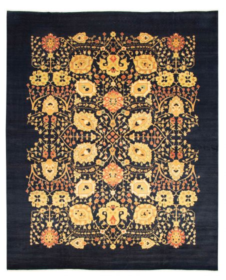 Casual  Transitional Blue Area rug 12x15 Pakistani Hand-knotted 345244