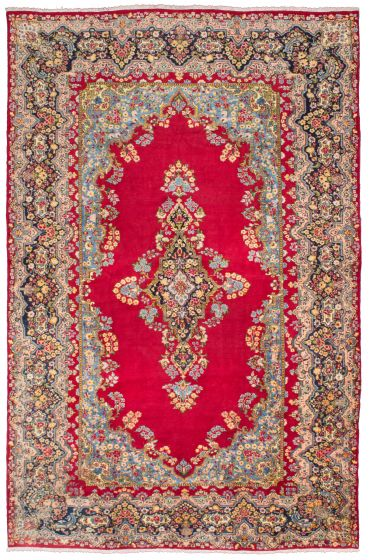 Traditional Red Area rug 10x14 Persian Hand-knotted 206780