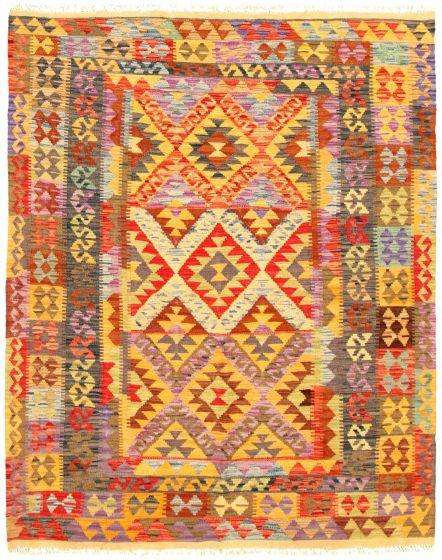 Bordered  Flat-weaves & Kilims Multi Area rug 4x6 Turkish Flat-weave 330158