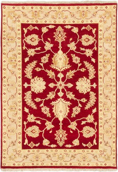Traditional Red Area rug 3x5 Indian Hand-knotted 168691