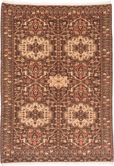 Traditional Brown Area rug 9x12 Afghan Hand-knotted 203989