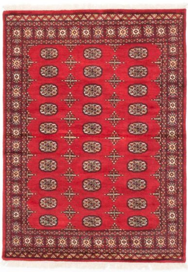 Traditional Red Area rug 3x5 Pakistani Hand-knotted 205100