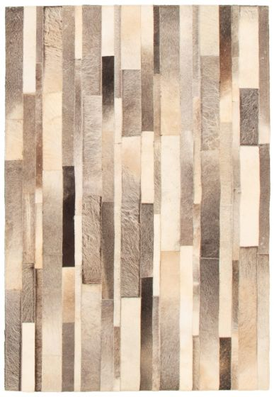 Accent  Transitional Ivory Area rug 3x5 Argentina Handmade 340283