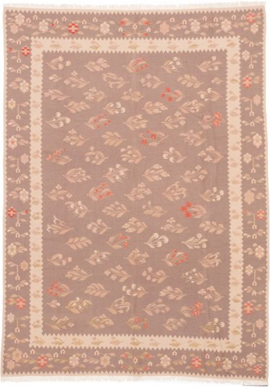 Flat-weaves & KilimsTraditional Brown Area rug Unique Turkish Flat-weave 201997
