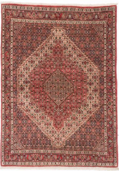 Traditional Red Area rug 3x5 Persian Hand-knotted 203918