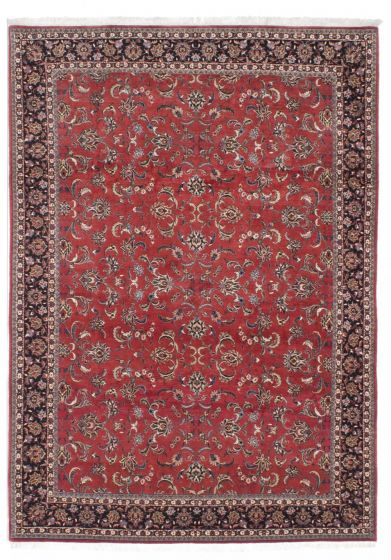Traditional Brown Area rug 6x9 Persian Hand-knotted 206916