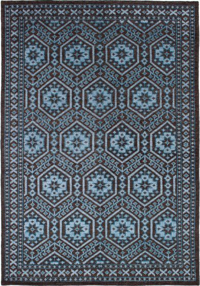 Bohemian  Traditional Brown Area rug 5x8 Indian Hand-knotted 271777