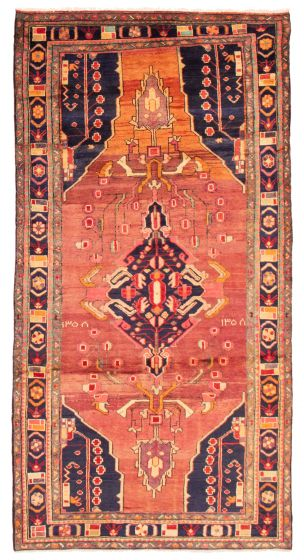 Bordered  Tribal Red Area rug 6x9 Persian Hand-knotted 358611