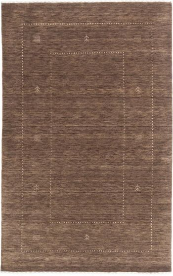 GabbehTribal Green Area rug 5x8 Indian Hand-knotted 196913