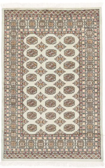 Traditional Green Area rug 3x5 Pakistani Hand-knotted 205014