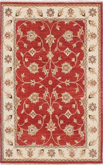 Traditional Red Area rug 3x5 Indian Hand-knotted 223845