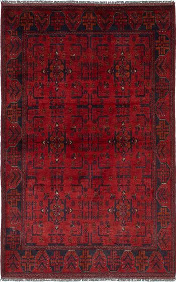 Traditional  Tribal Red Area rug 4x6 Afghan Hand-knotted 236236