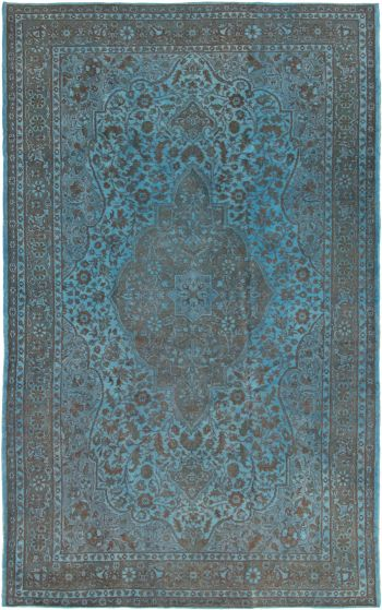 Bordered  Transitional Green Area rug Unique Turkish Hand-knotted 293783