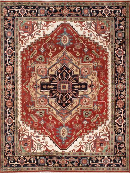 Traditional Brown Area rug 9x12 Indian Hand-knotted 207274