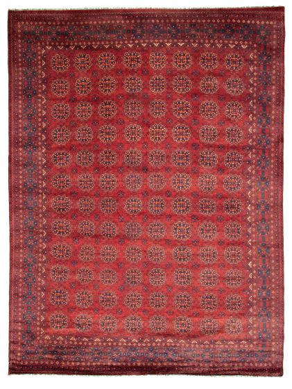 Traditional  Tribal Red Area rug 8x10 Afghan Hand-knotted 312226
