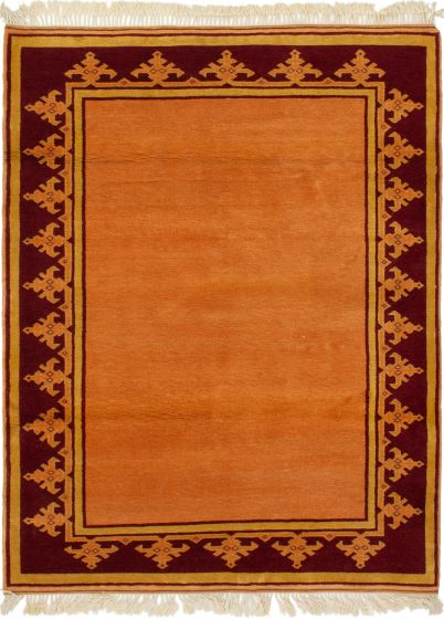 Bordered  Traditional Brown Area rug 3x5 Turkish Hand-knotted 293766