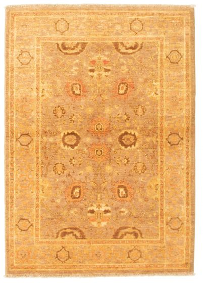Bordered  Traditional Brown Area rug 3x5 Afghan Hand-knotted 331304