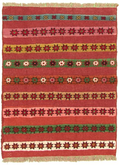 Carved  Tribal Pink Area rug 3x5 Turkish Hand-knotted 334898