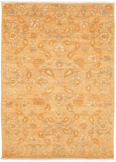 Floral  Transitional Brown Area rug 3x5 Pakistani Hand-knotted 338996
