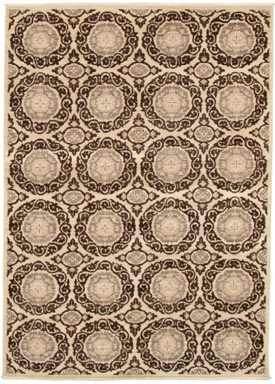 Casual  Transitional Brown Area rug 5x8 Pakistani Hand-knotted 339011