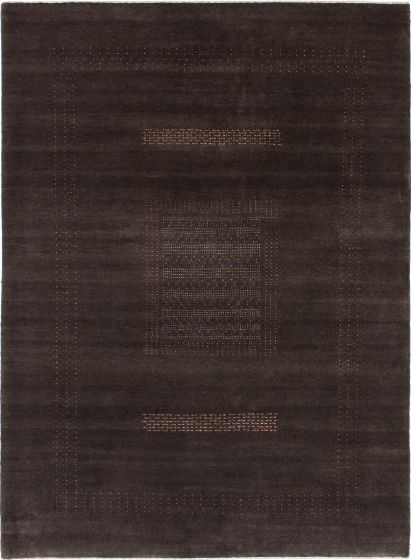 Contemporary  Solid Brown Area rug 5x8 Indian Hand-knotted 279655