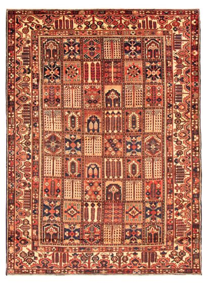Bordered  Traditional Red Area rug 9x12 Persian Hand-knotted 366586