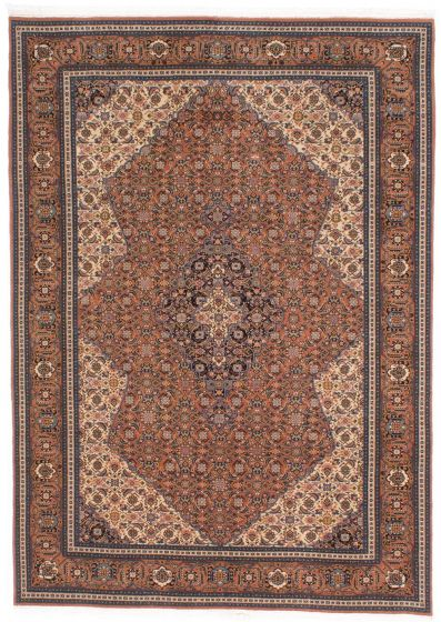 Traditional Brown Area rug 6x9 Persian Hand-knotted 206948
