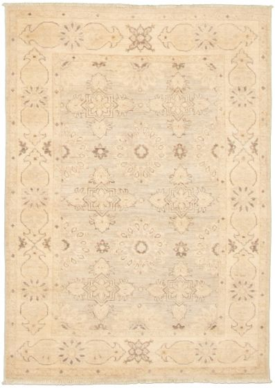 Bordered  Transitional Grey Area rug 3x5 Pakistani Hand-knotted 338990
