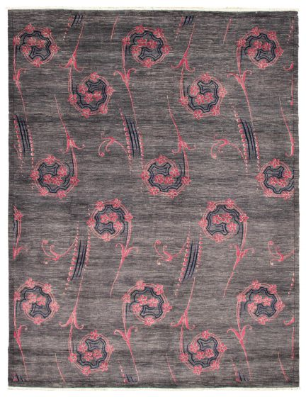 Casual  Transitional Grey Area rug 12x15 Pakistani Hand-knotted 341542