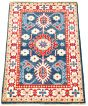 Bordered  Traditional Blue Area rug 3x5 Afghan Hand-knotted 330276