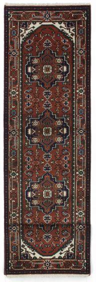 FloralTraditional Orange Runner rug 12-ft-runner Indian Hand-knotted 207593