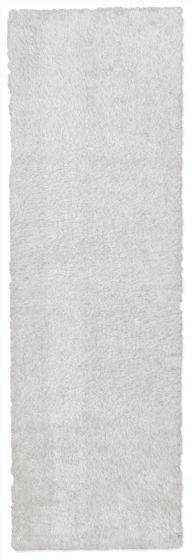 Accent  Solid Ivory Runner rug 6-ft-runner Imported Handmade 328542