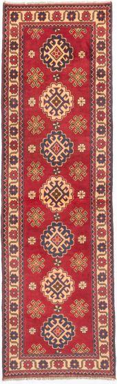 Tribal Red Runner rug 10-ft-runner Afghan Hand-knotted 203044