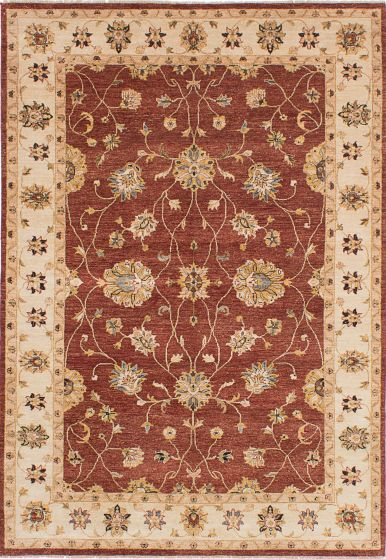 Traditional Red Area rug 5x8 Indian Hand-knotted 224095