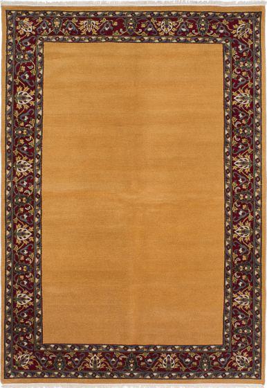 Transitional Orange Area rug 5x8 Pakistani Hand-knotted 230693