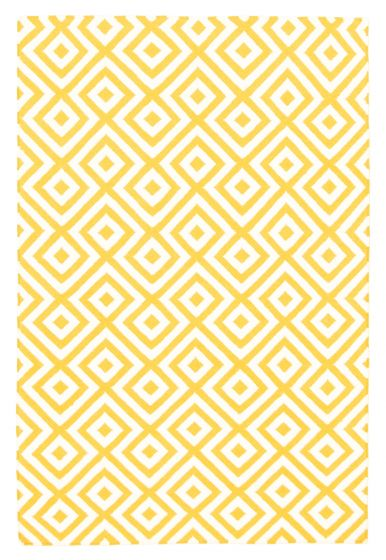 Flat-weaves & Kilims  Transitional Yellow Area rug 5x8 Indian Flat-weave 344460