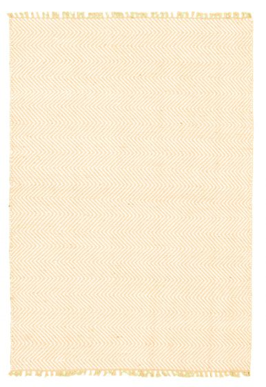 Flat-weaves & Kilims  Transitional Brown Area rug 3x5 Indian Flat-weave 344537